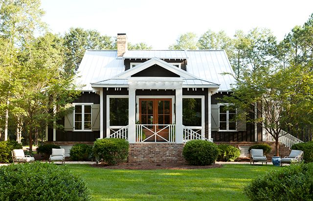 Front Exterior Southern Living House Plans House Plans Farmhouse Porch House Plans