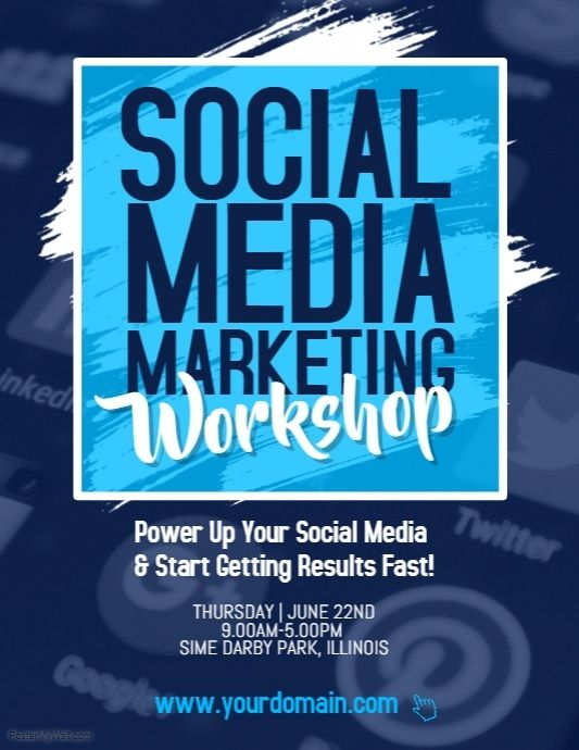 Social Media Marketing Workshop Flyer Poster | Business Flyer ...