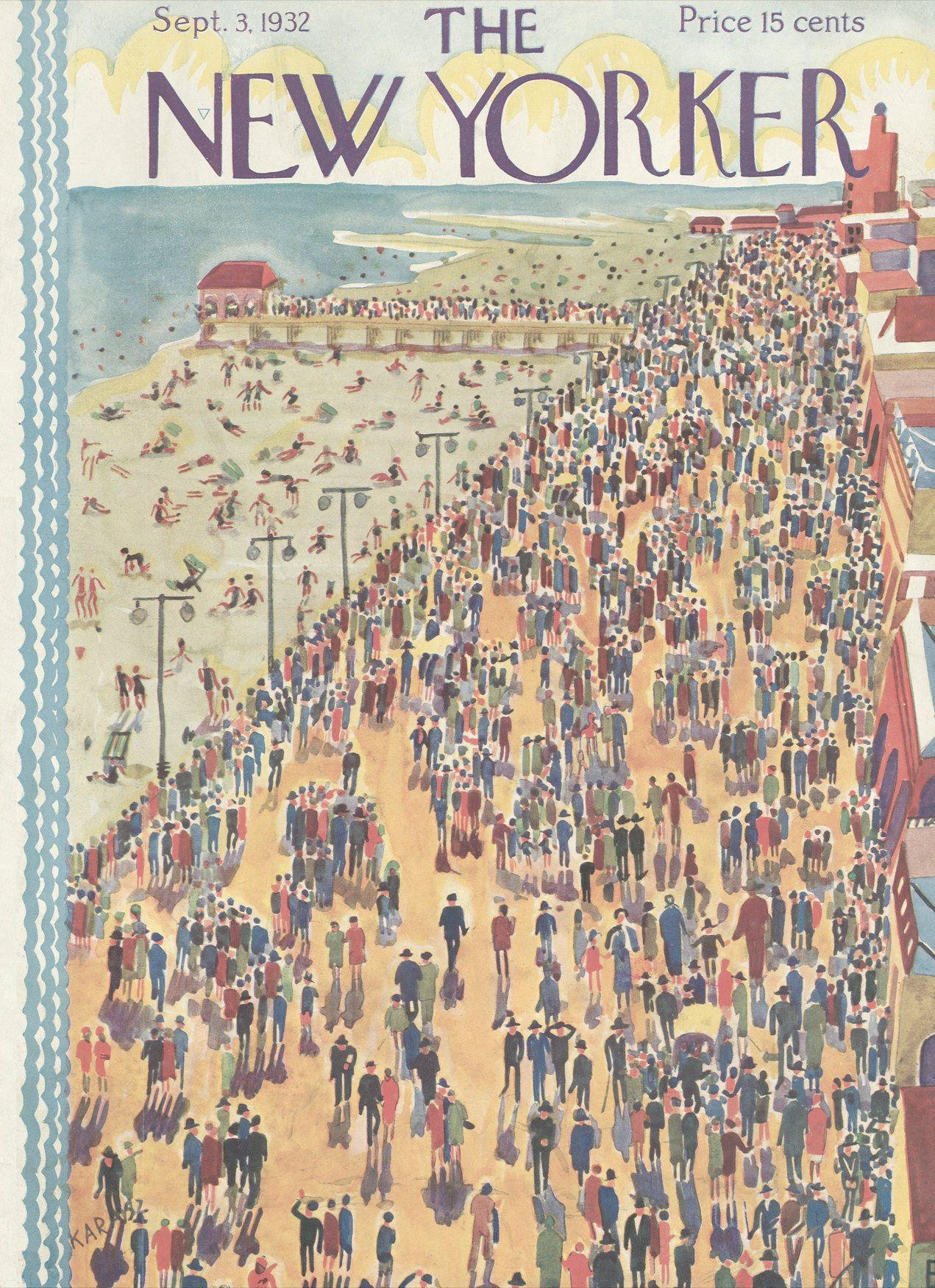 The New Yorker - Saturday, September 3, 1932 - Issue # 394 - Vol. 8 - N° 29 - Cover by :Ilonka Karasz