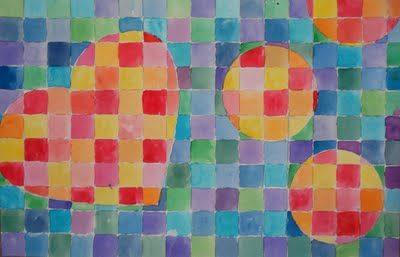 Warm Cool Watercolour Grid Cool Drawings For Kids Art Sub Lessons