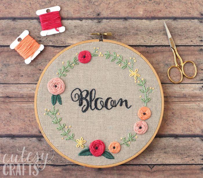 Bloom Hand Embroidery Pattern   Weben