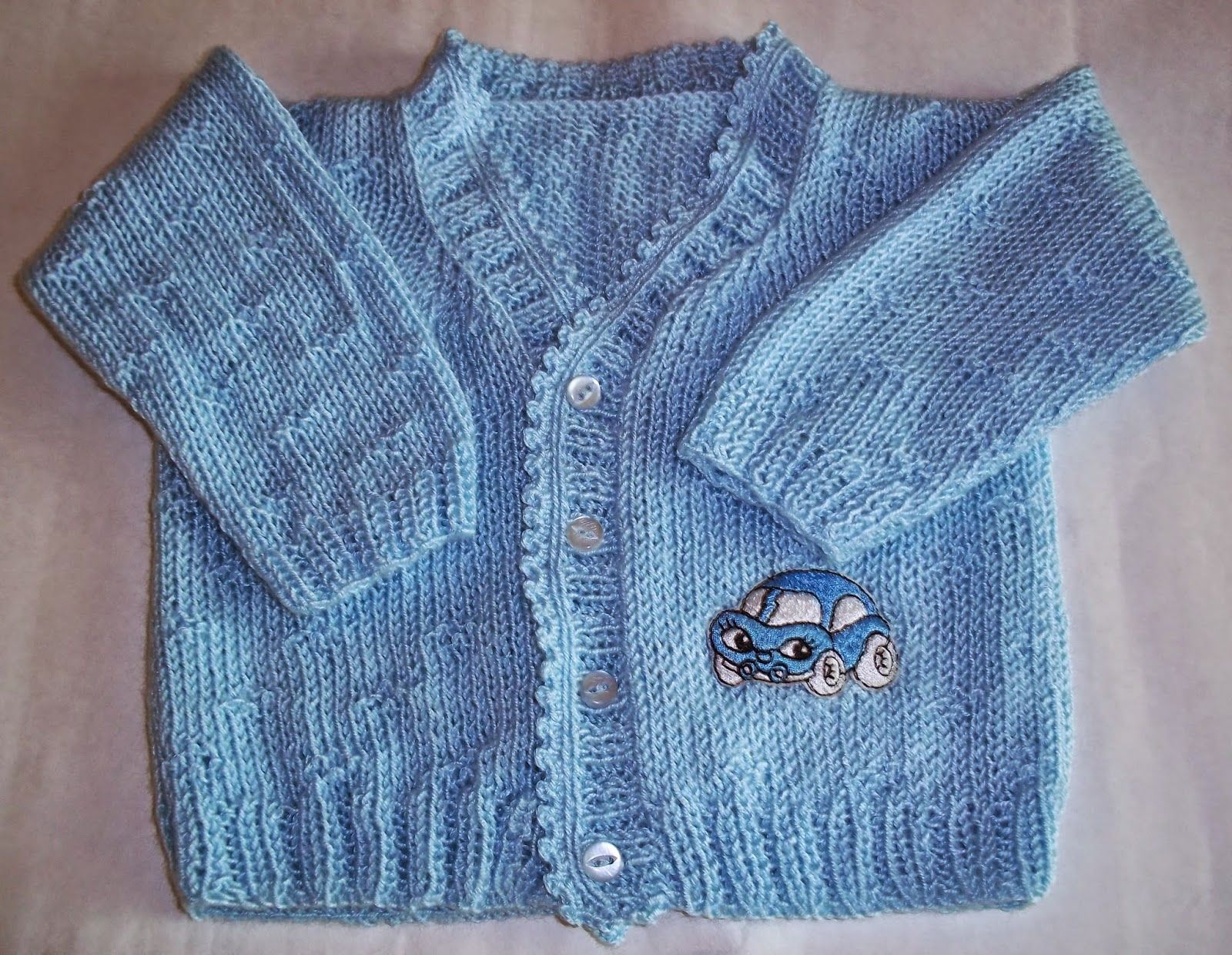 Tejidos artesanales con bordados carysol saco celeste para bebes de 3 6 meses con manga lar - Tejer chaqueta bebe 6 meses ...