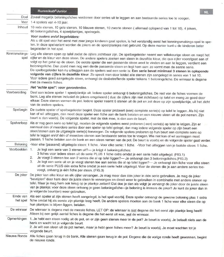 Handleiding Jumbo Rummikub Junior (pagina 2 van 2) (3,1 mb Nederlands)
