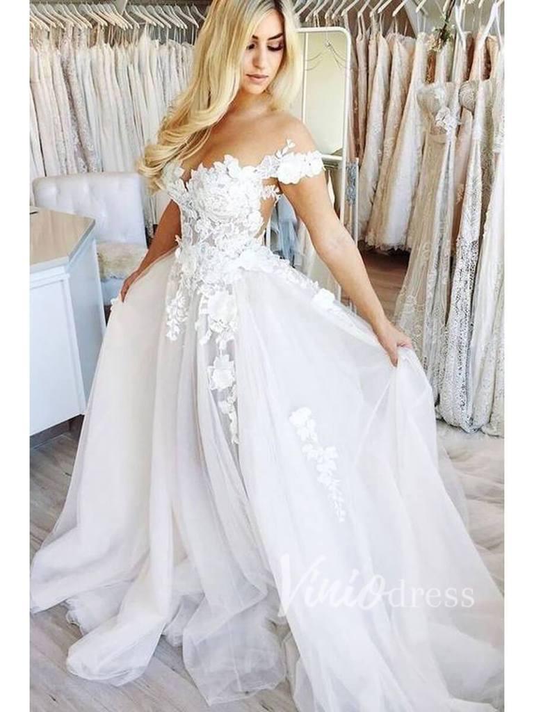 Cap Sleeve Floral Beach Wedding Dresses Online Vw1181 Online Wedding Dress Cheap Wedding Dress Cheap Bridal Dresses