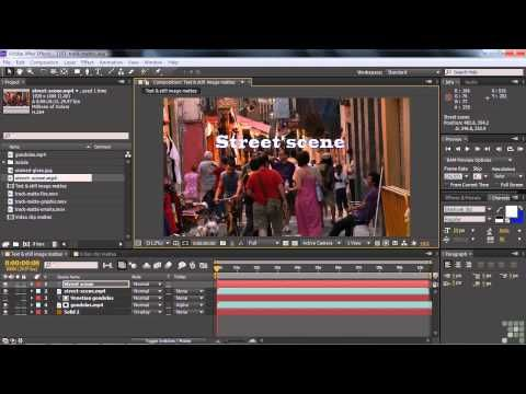 Adobe After Effects Cs6 Tutorial Understanding Track Mattes Luma And Alpha Adobe After Effects Cs6 After Effects Tutorial