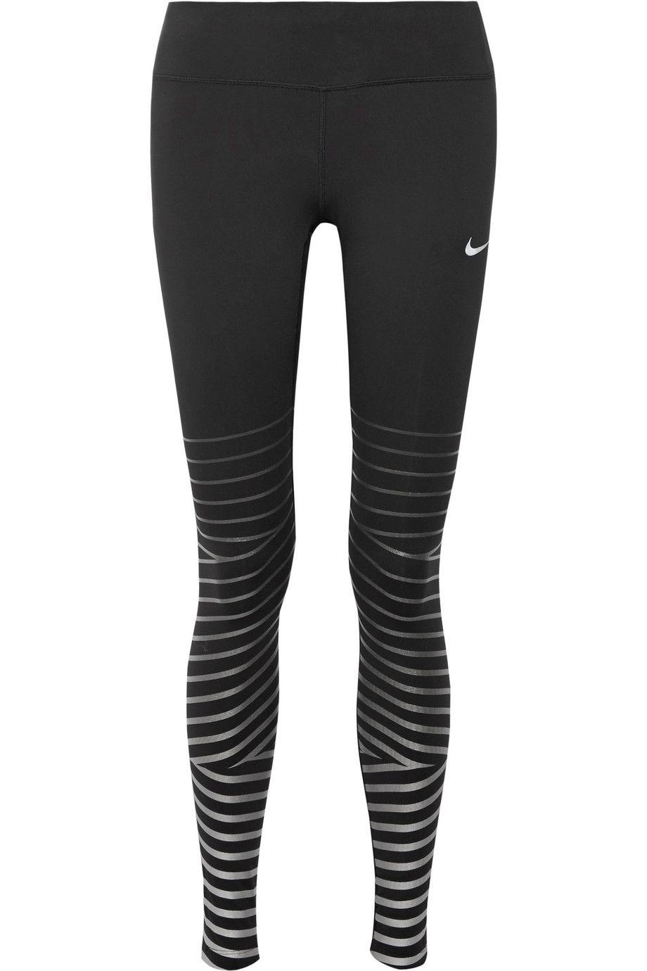 256c84dc83ad5 Nike   Power Epic Lux metallic striped Dri-FIT stretch leggings    NET-A-PORTER.COM