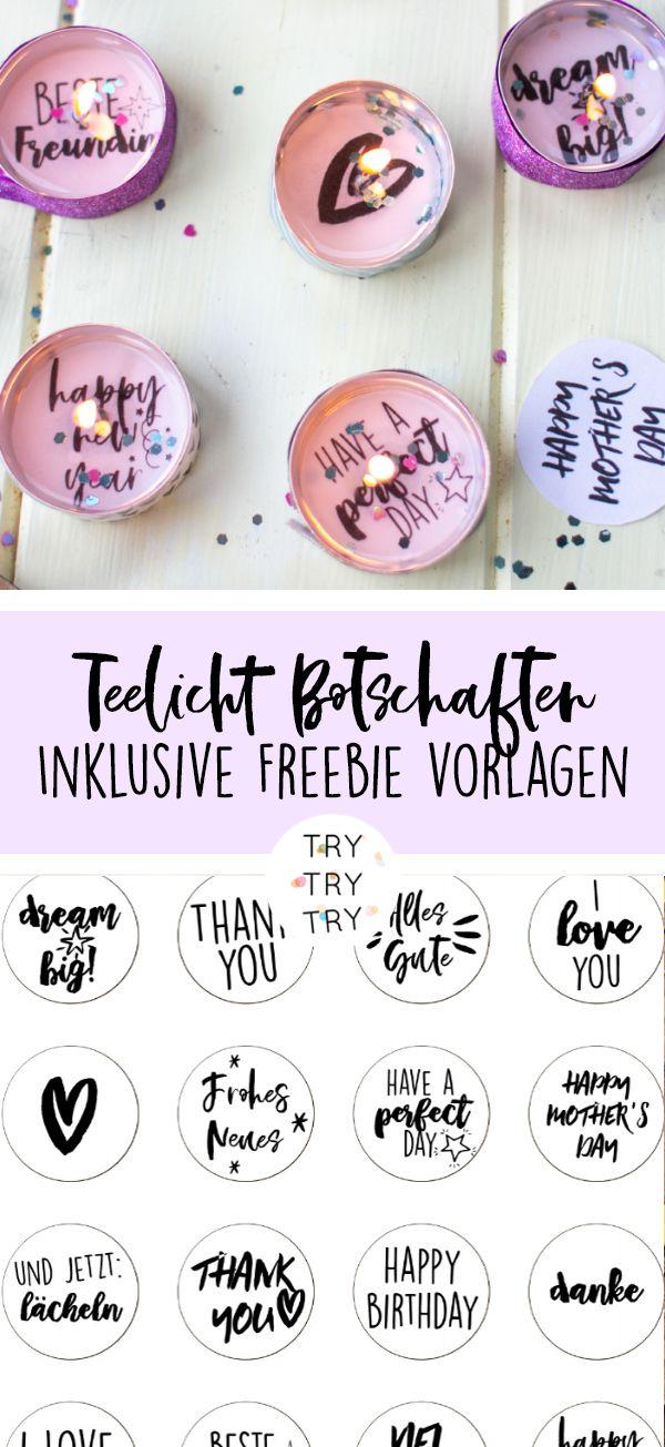 DIY Geschenk: Teelichter-Botschaften für Geburtstage, Silvester oder einfach nur so