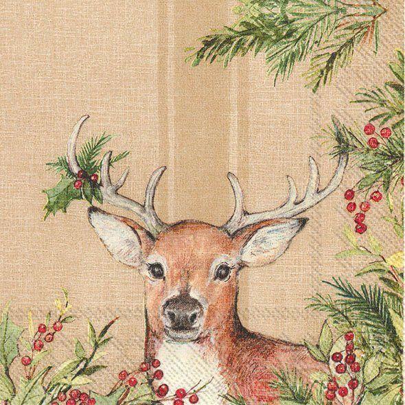 Serviette 'Christmas Deer '