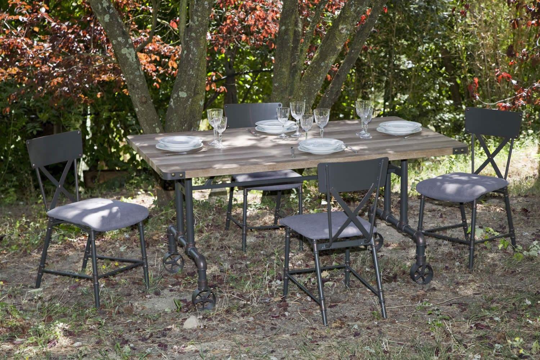 Tavolo Da Pranzo In Ferro E Mdf Stile Industrial Ispirazioni