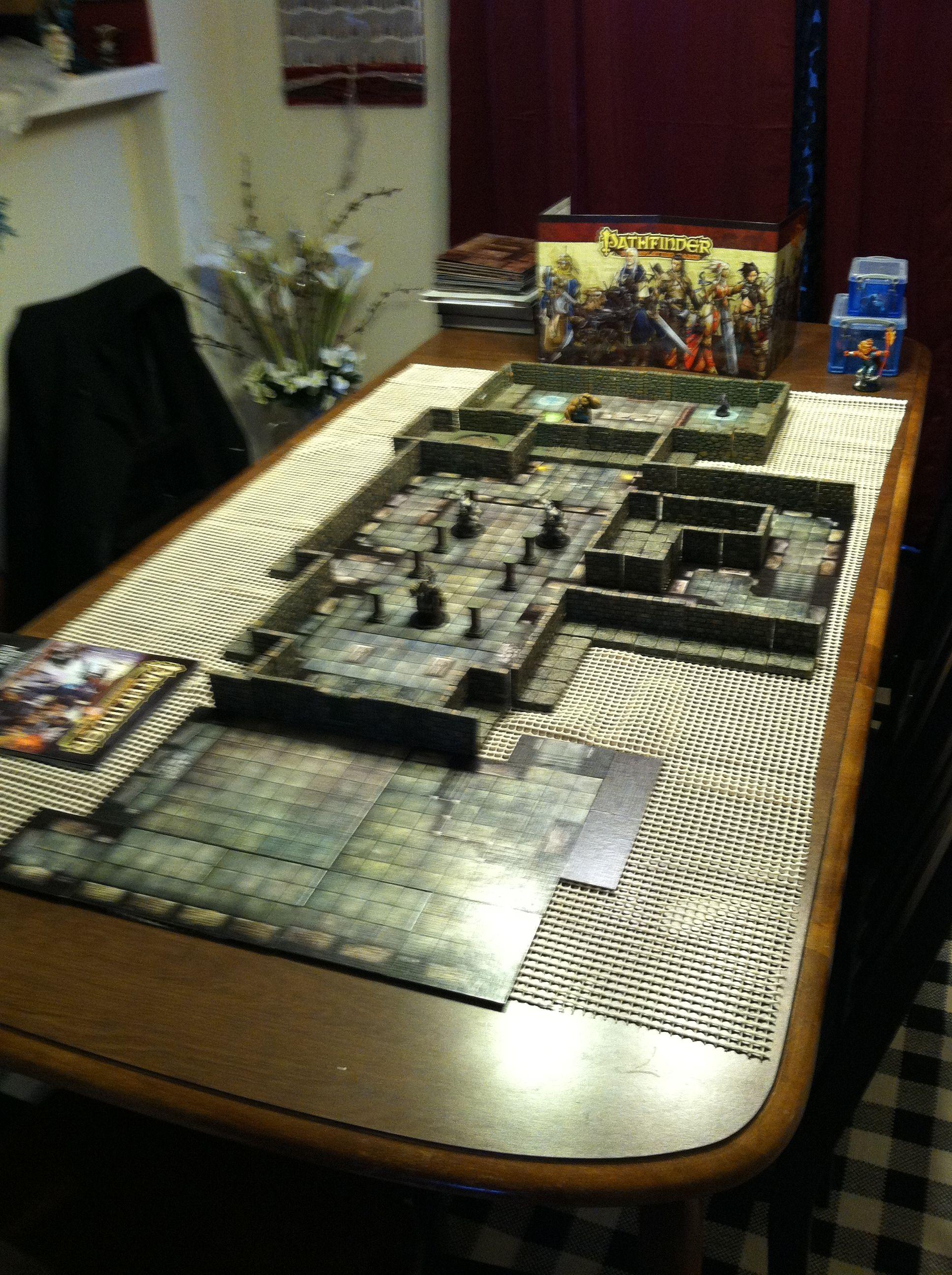 Set up for Thursday. Dwarven Forge D&D Pathfinder ...
