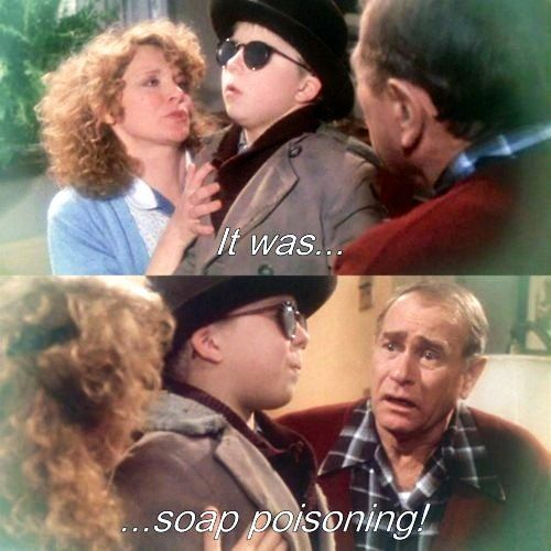 a christmas story 1983it was soap poisoning