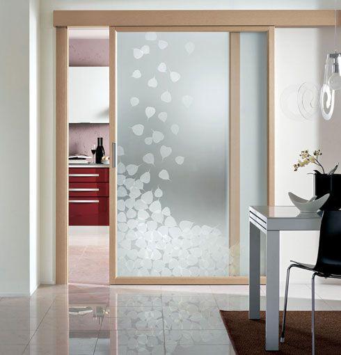 Puerta corredera de vidrio laminada evoluzione cristal - Puertas de vidrio para interiores ...