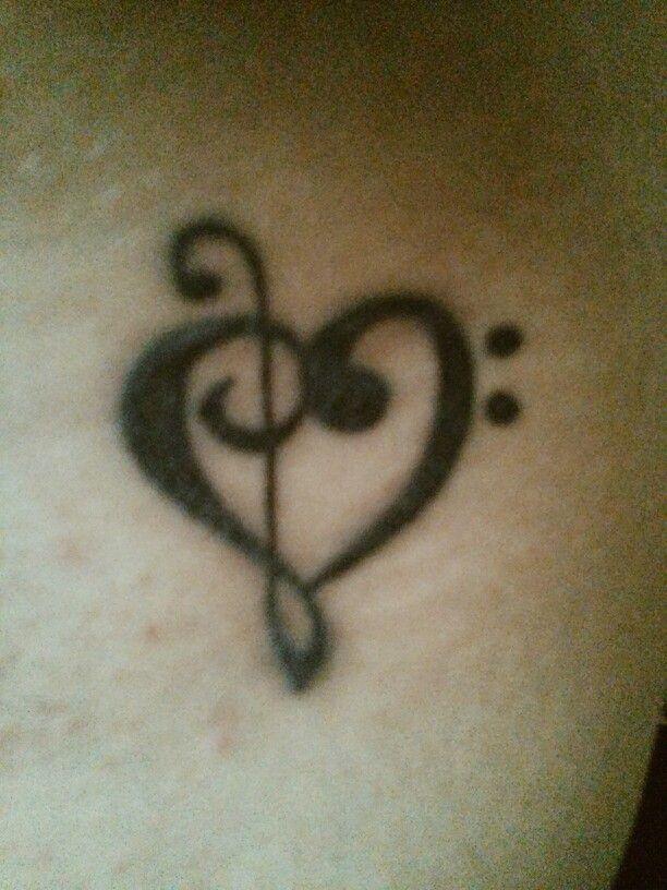 Clave Sol Fa Tatuaje Tattoo Corazon Heart Tatuajes Tattos