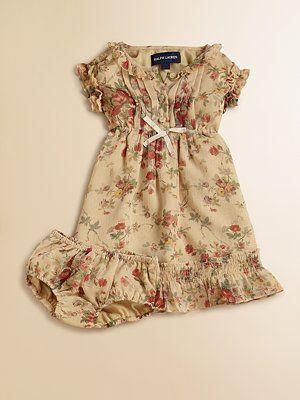 Ralph Lauren Infant's Floral Chiffon Dress & Bloomers Set