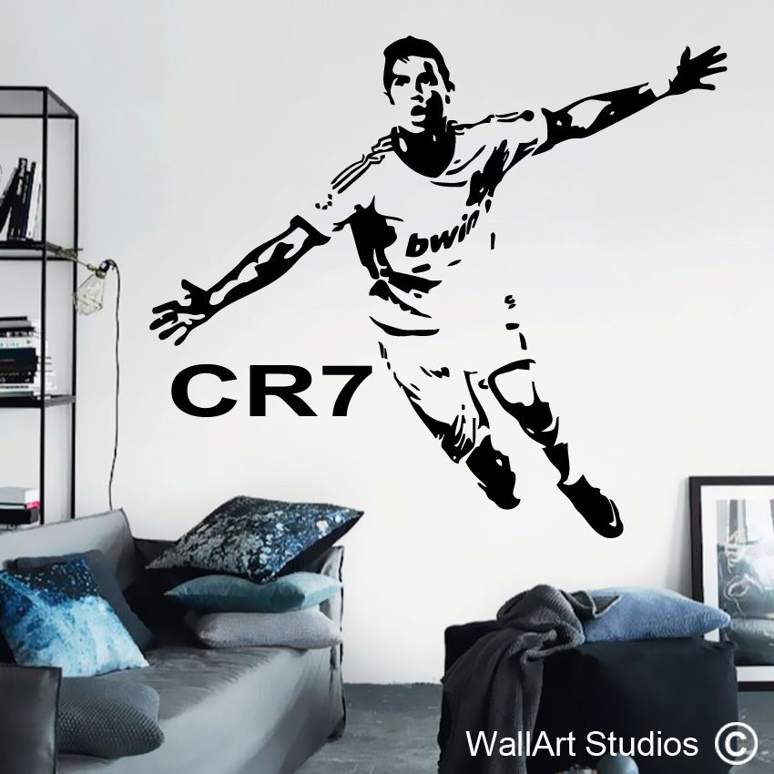 Q744 Badminton Sport Bedroom Hall Smashed Wall Decal 3D Art Stickers Vinyl Room