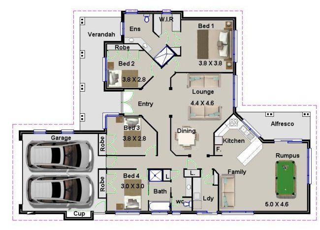 4 Bed Floor Plan Australian Houses Australian House