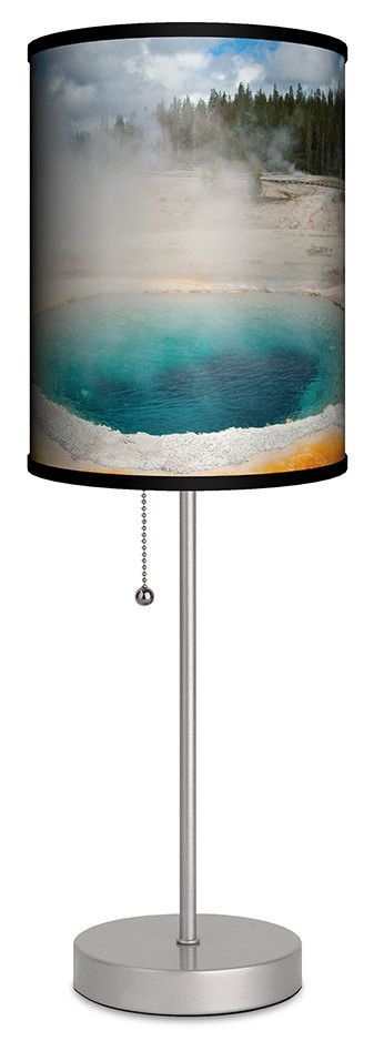 """Andy Cookyellowstone Geyser 20"""" H Table Lamp"""