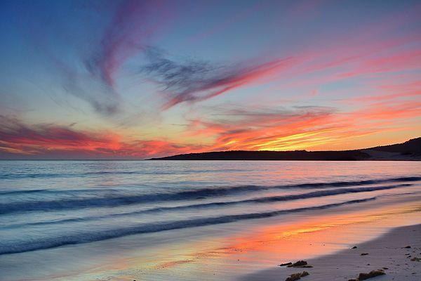 Tarifa Beach At Sunset Ocean Painting Colorful Landscape Ocean Art