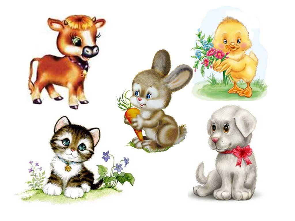 Рисованные картинки животных для детей, красивые природа