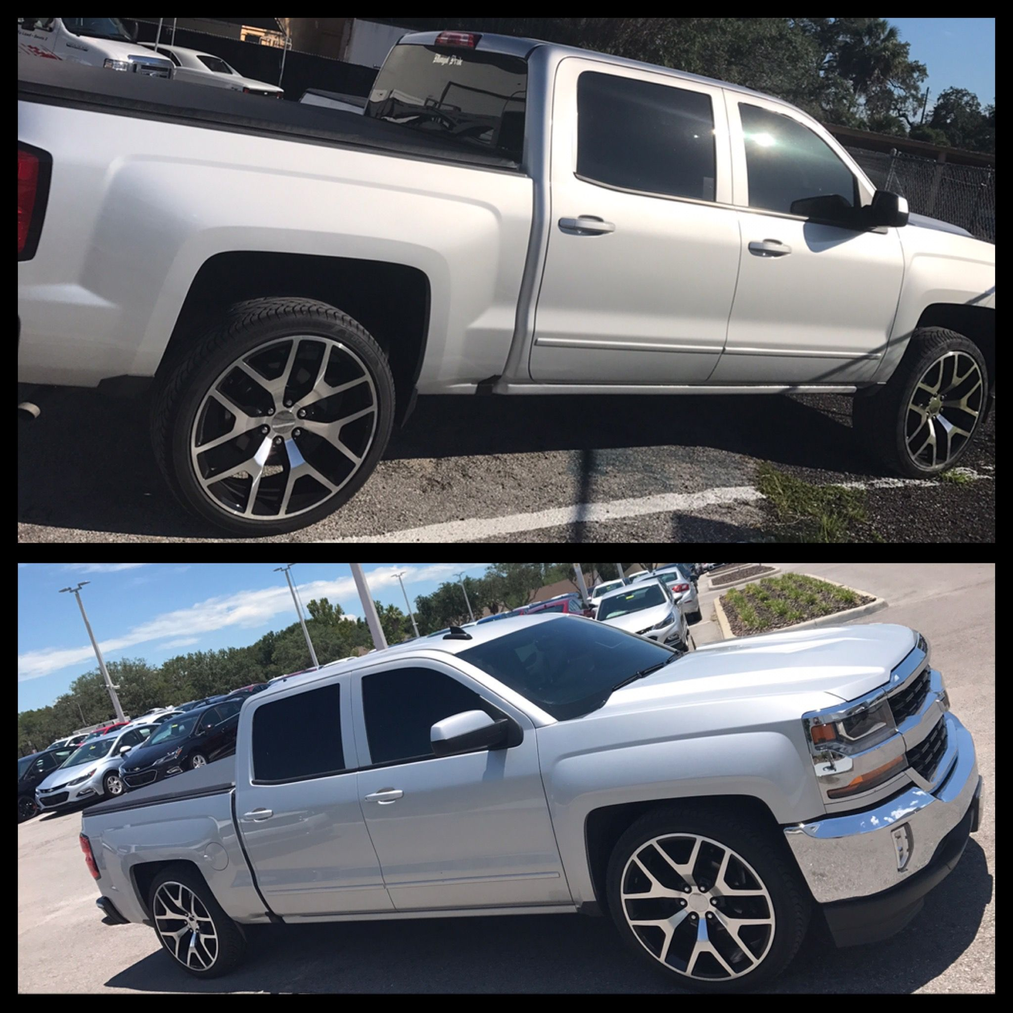 2017 Silverado 1500 slammed on 24s 2/4 drop kit from ...