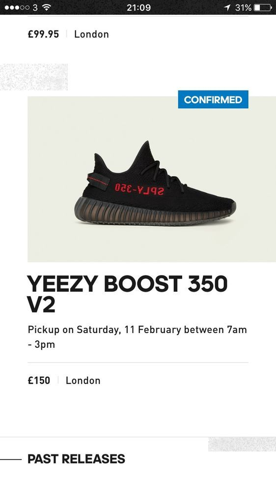 Me Using the adidas Confirmed App for the Yeezy Boost 350 V2