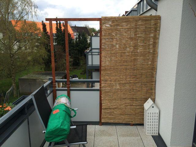 Balkon Bambus Sichtschutz Selber Bauen Eine Seite Fertig