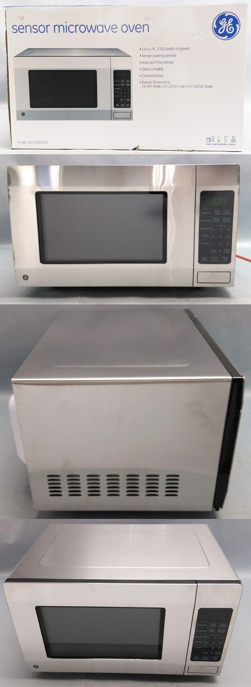 Microwave Ovens 150140 Ge 1150 Watt Stainless Steel 1 6 Cu Ft Microwave Oven Jes1656srss Buy It No Microwave Countertop Microwave Countertop Microwave Oven