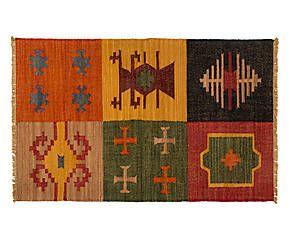 Tappeto Kilim Anapurna in lana e cotone modello 186 - 155x95 cm