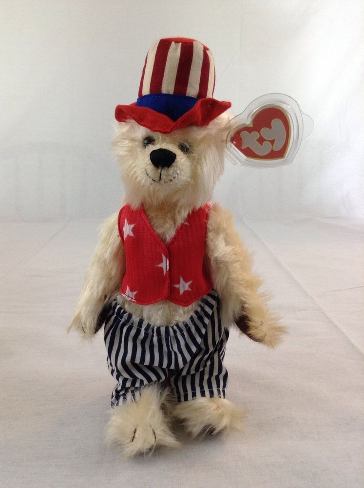 3607387d1ff 2000 Ty Beanie Baby Movable Arms   Legs Uncle Sam Patriotic Plush Animal  Toy Tag  Ty  Beanie