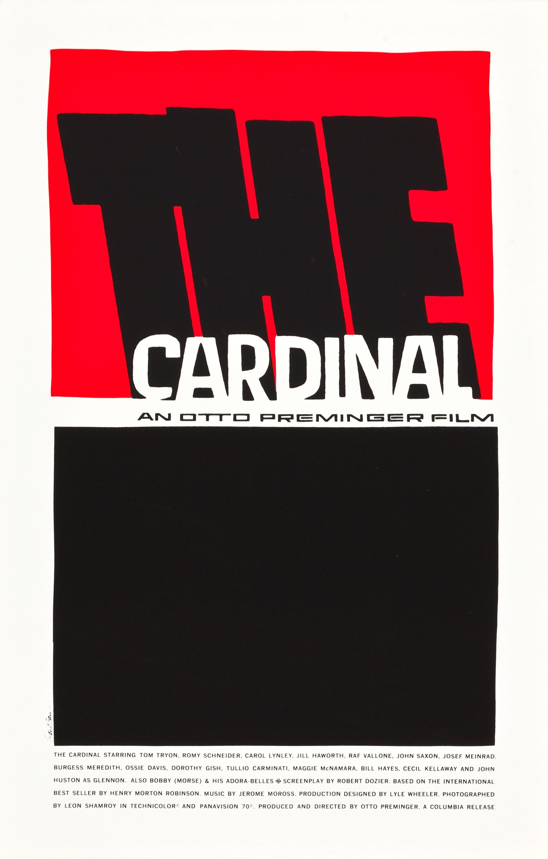 The Cardinal 1963 Saul Bass Classic Films Posters Film Posters