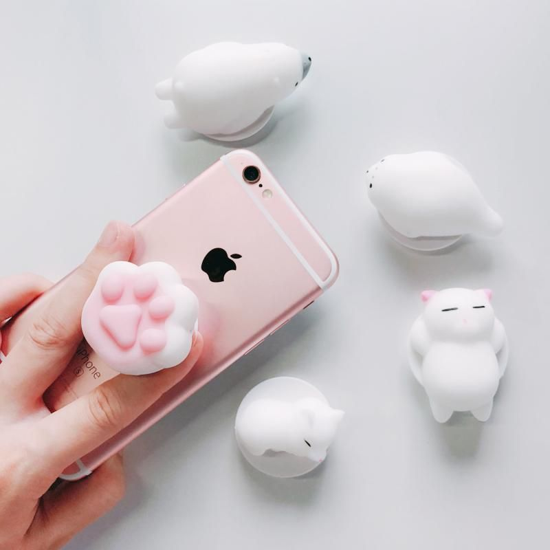 best website 3c956 43a26 3D Squishy Cat Phone Holder Stand Lots of Colours Available in 2019 ...