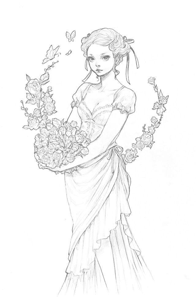Pin de Cristina B. en Coloring pages (portraits) for grown ups ...