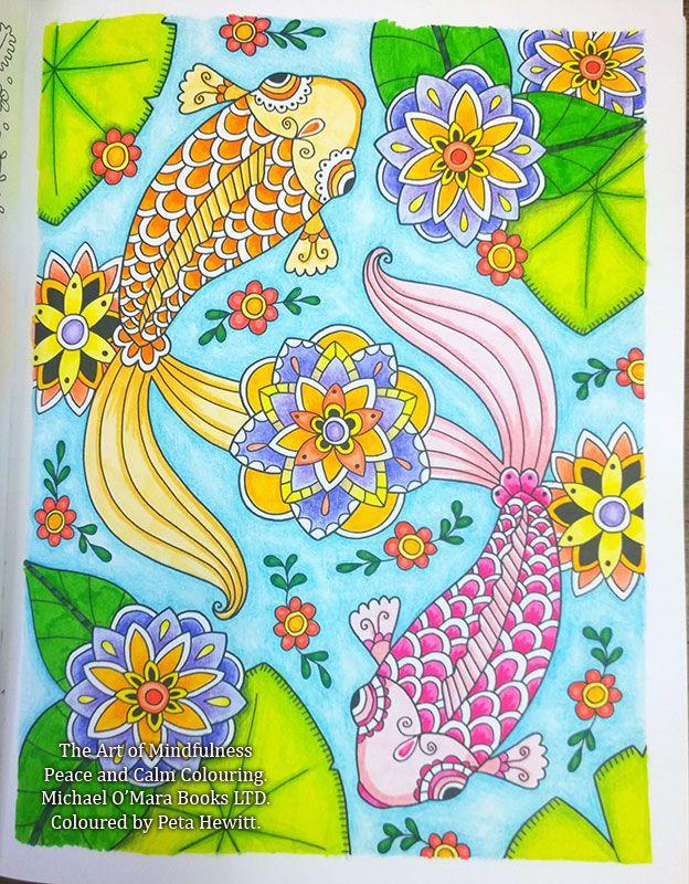 The Art Of Mindfulness Peace And Calm Colouring La Artistino Peta Hewitt School Wall Art Colorful Art Art