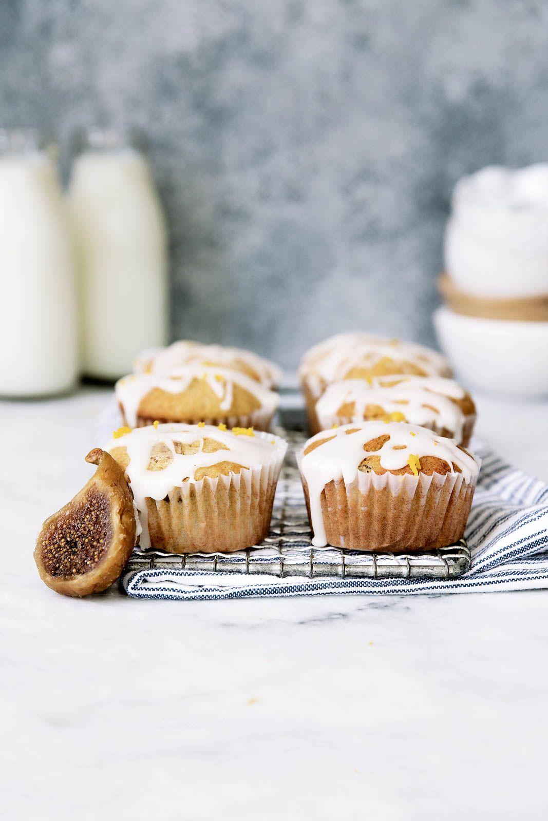 Orange Mascarpone Fig Muffins that taste like a muffin and a donut had a…