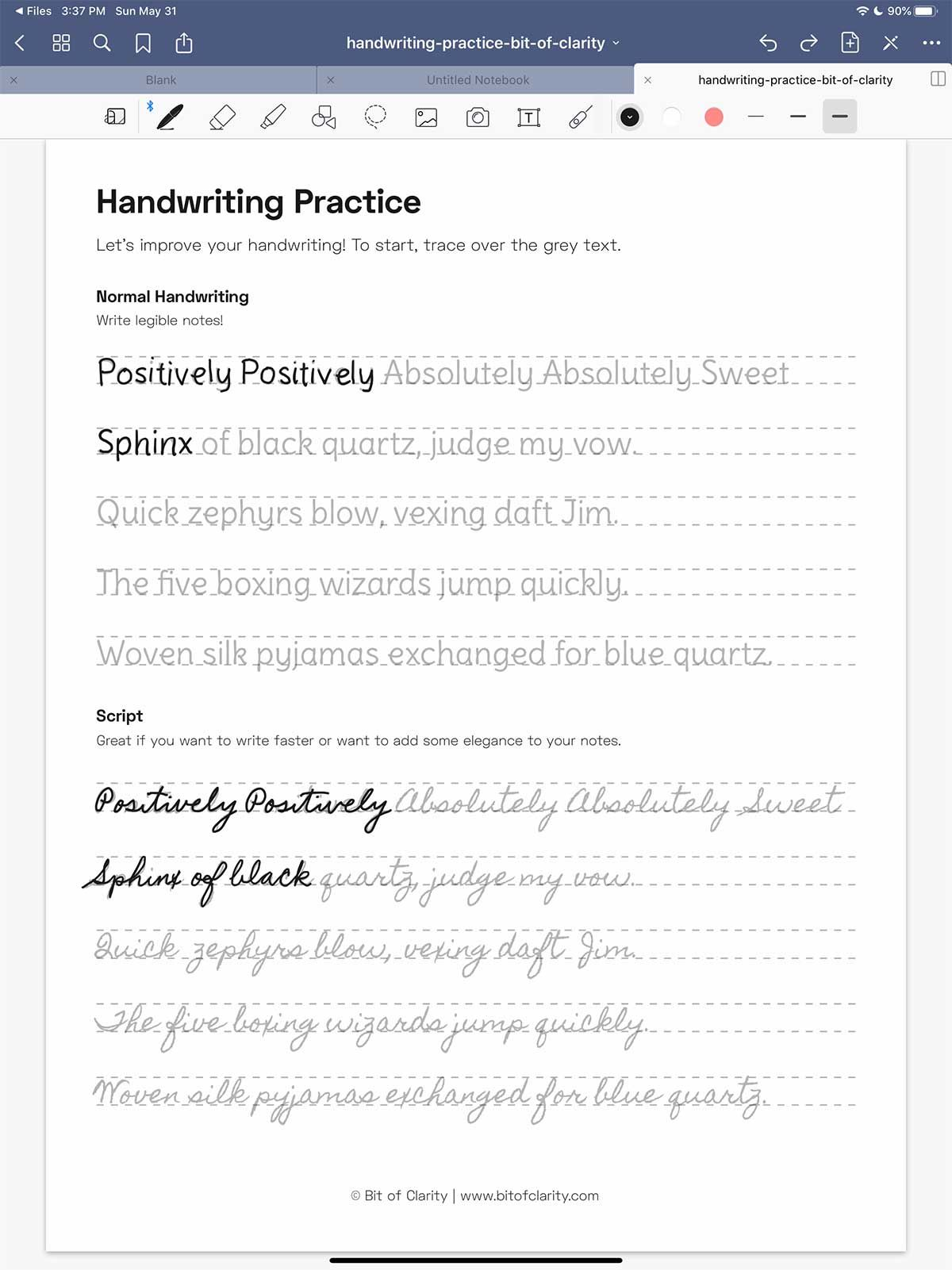 7 Easy Ways To Improve Your Handwriting On The Ipad Bit Of Clarity Improve Your Handwriting Handwriting Practice Sheets Handwriting Practice Handwriting practice sheets pdf ipad