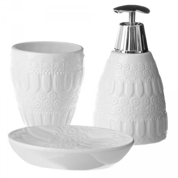 Accesorios de baño provenzales blancos de cerámica para ...