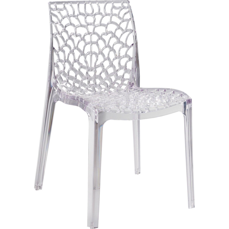 Chaise De Jardin En Resine Grafic Lux Transparent