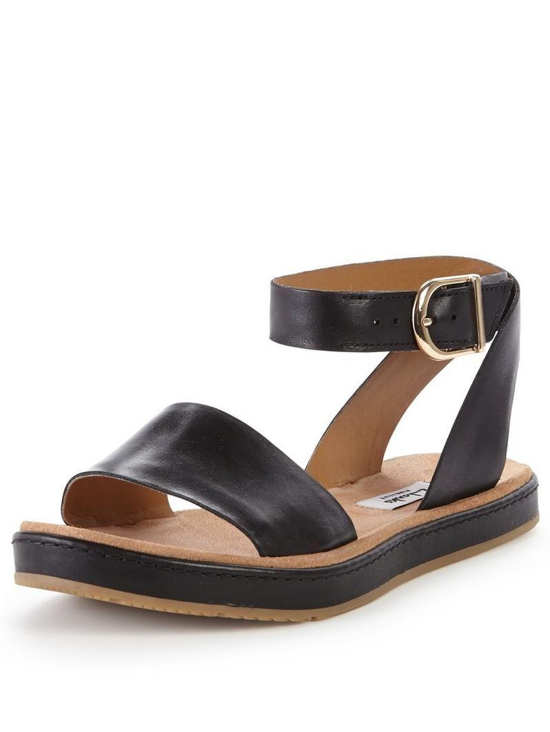 d93a41eba4b Clarks Romantic Moon Leather Sandal - Black