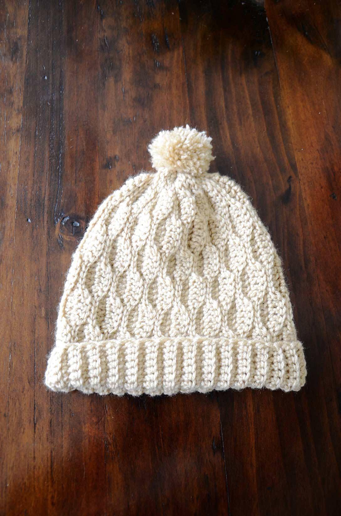 81172e36829 Crochet Hat Pattern The Wave Beanie