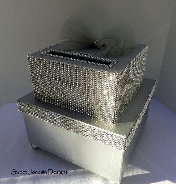 Wedding Gift Box Bling Card Box Rhinestone Money Holder Custom – Bling Wedding Card Box