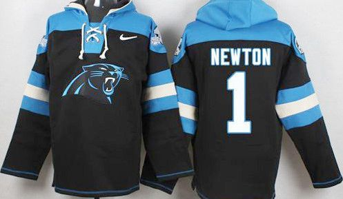 newest 975fc 557fb Cam Newton Black Carolina Panthers Pullover Hoodie ...