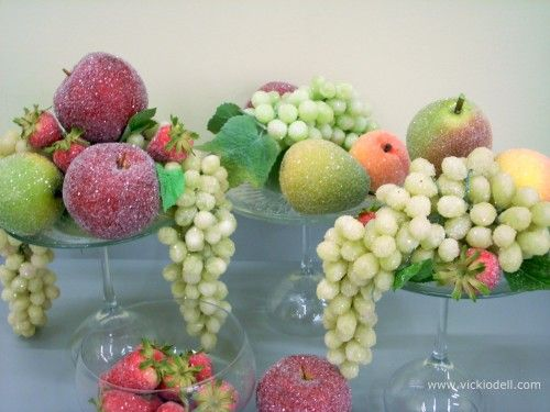 How To Make Faux Sugared Fruit Le Decorations Christmas Holiday Decor Cool