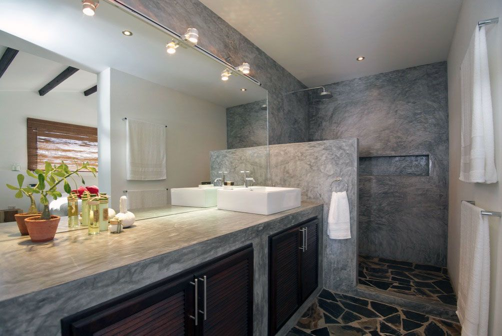 Baños de concreto pulido.   Casa Acapulco   Pinterest   Cemento ...