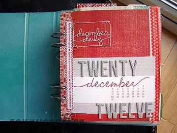December Daily pages by cannycrafter at Studio Calico