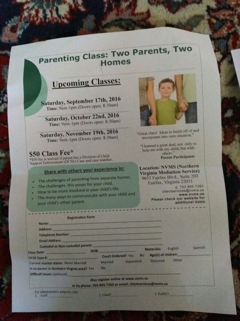 Class requires by VA of the person filing for divorce