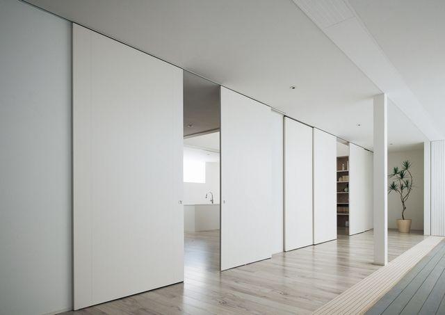 動く壁 コンセプトの大型上吊り引き戸 住宅ニュース 新製品 新建