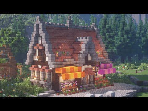 【Minecraft】 Flower Shop Tutorialㅣ Me val Town 27