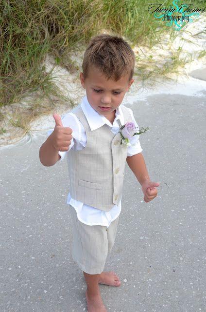 Beach Wedding ♡ Little Ring Bearer To Match The Groom