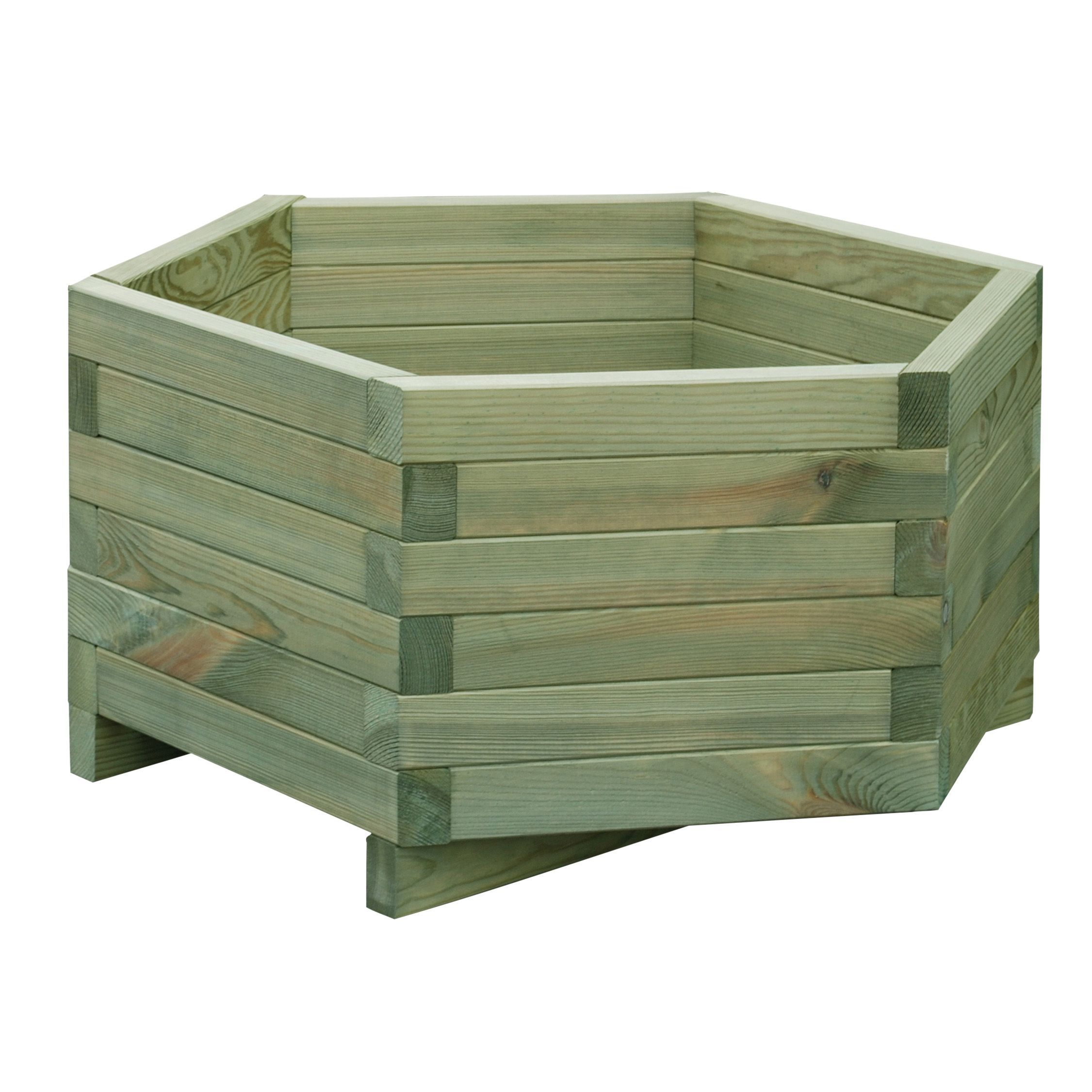 Diy At B Q: Wooden Hexagonal Flowerpot, (H)30cm (L)60cm