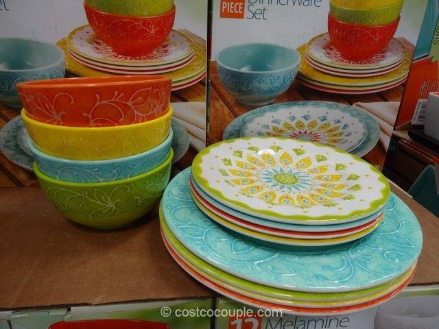 Laurie Gates 12-Piece Melamine Dinnerware Set Costco & Laurie Gates 12-Piece Melamine Dinnerware Set Costco | Kitchen ...
